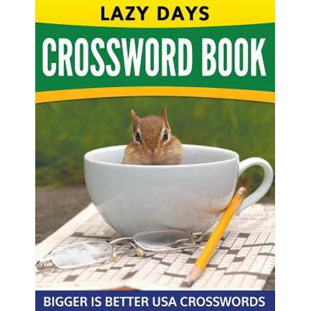 Lazy Days Crossword Book (Easy to Medium)](Crossword Puzzle Halloween Printable)