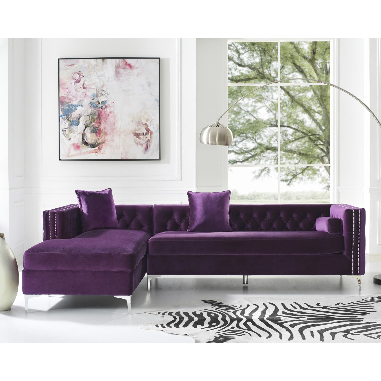 Inspired Home Richard Chaise Sectional Sofa