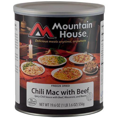 Mountain House Beef Chili Mac Can by Liberty Mountain