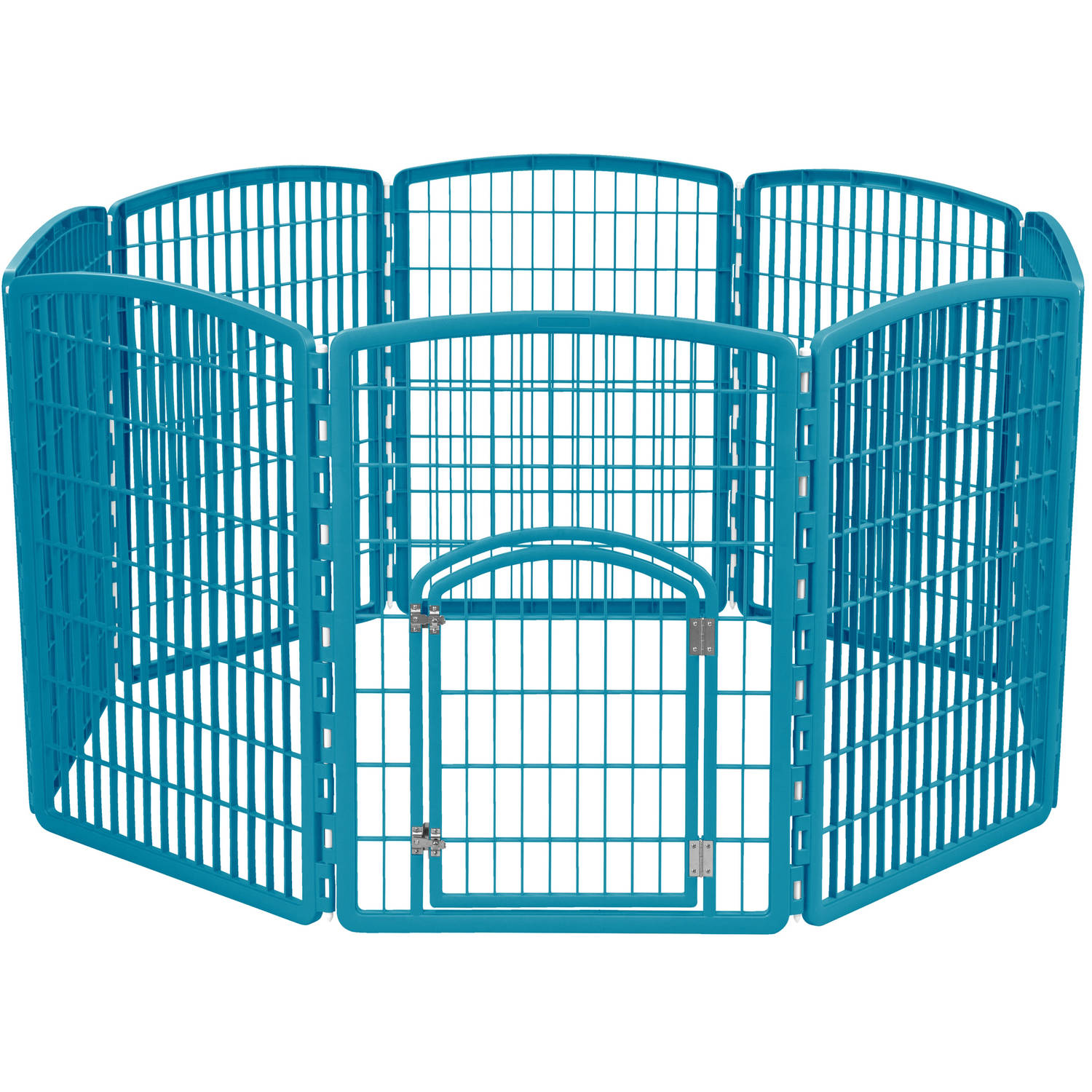 IRIS 8-Panel Pet Pen with Door, Blue Moon