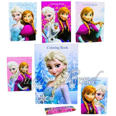 Frozen Coloring Books Anna Elsa Olaf Party Bags Fillers Rewards Favors 6pcs (Frozen Party Boxes)