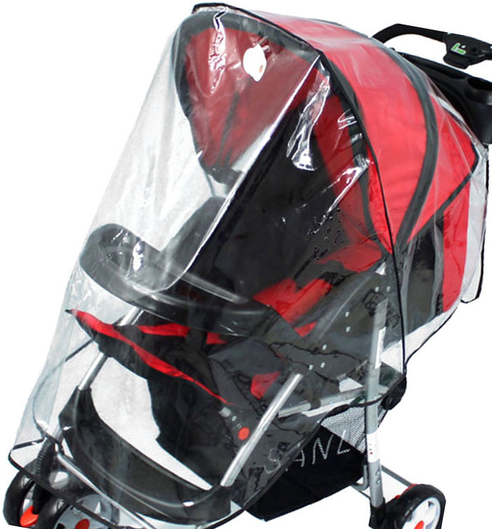 Single Clear Stroller Rain Canopy Rain Wind Cover Protector