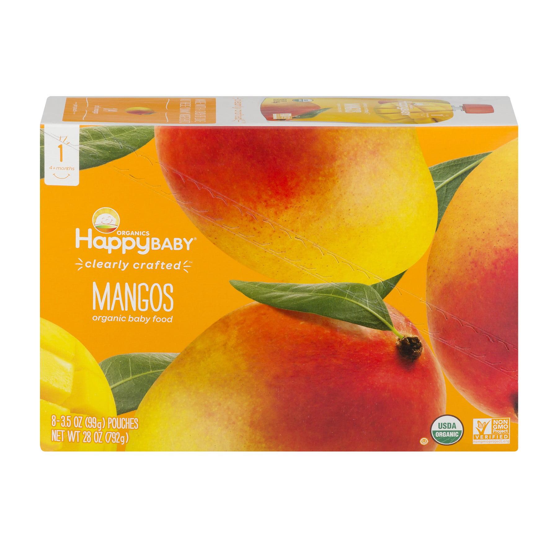 Happy Baby Organics Mangos Baby Food 8-3.5 oz. Pouches