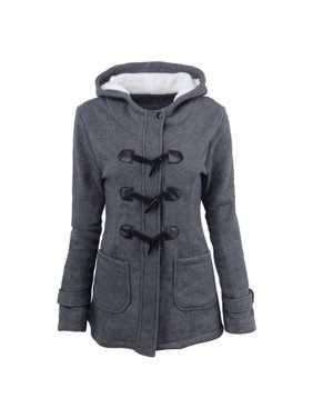 fef9570cef3 Product Image Women Fashion Claw Clasp Wool Blended Classic Pea Coat Zipper  Jacket Plus Size