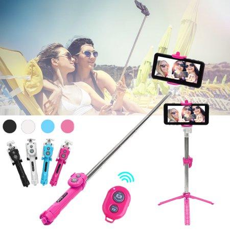1Pcs Wiredless bluetooth Remote Shutter Handheld Selfie Stick Monopod Extendable Selfie Tripod With Bluetooth Remote Control Shutter for Android