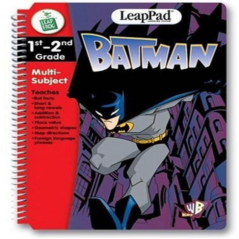 LeapFrog leappad educational book: batman. book and cartr...