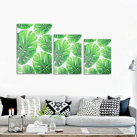 Mrosaa Green Unframed Plant Canvas Wall Art Watercolor