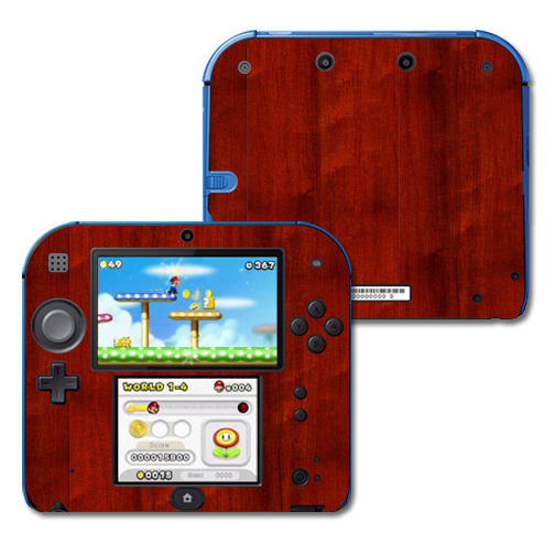 Mightyskins Protective Vinyl Skin Decal Cover for Nintendo 2DS wrap sticker skins Cherry Wood