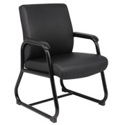 Boss Office Products Black Executive Guest Reception Waiting Room Chair
