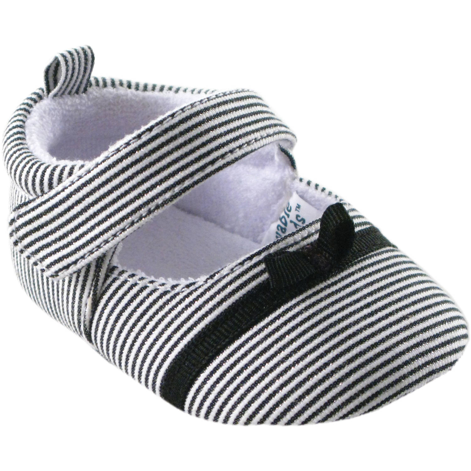 Luvable Friends Newborn Baby Girl Bow Dress Shoes
