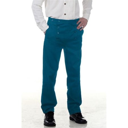 The Pirate Dressing C1403 Architect Mens Hundred Percent Cotton Pants, Blue - 2XL](Pirate Pants)