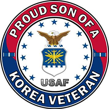 MAGNET US Air Force Proud Son of a Korea Veteran Decal Magnetic Sticker