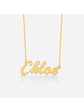 Personalized necklaces walmart personalized 18kt yellow gold over silver script name necklace 16 and 18 chain aloadofball Gallery