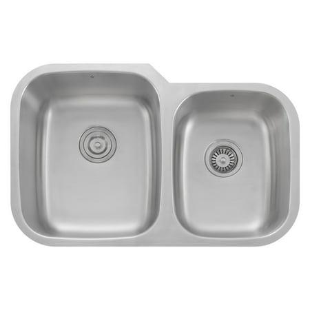 Z Series Stainless Steel Kitchen Double Bowl Sink Undermount 60 40 Porto 32 Inch