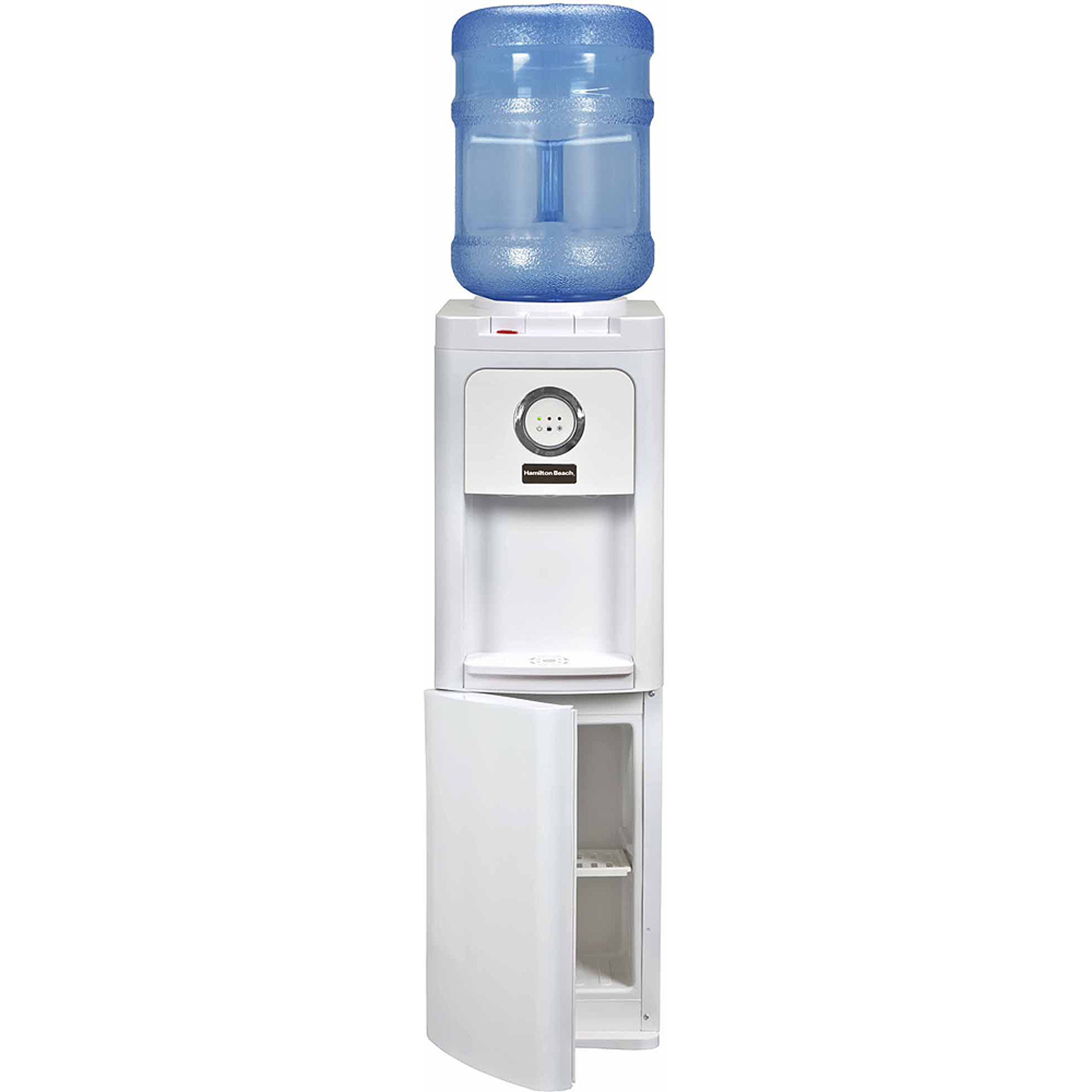 Hamilton Beach TL-1-5W Top Loading Water Dispenser with Storage Cabinet, Hot and Cold Temperatures, White