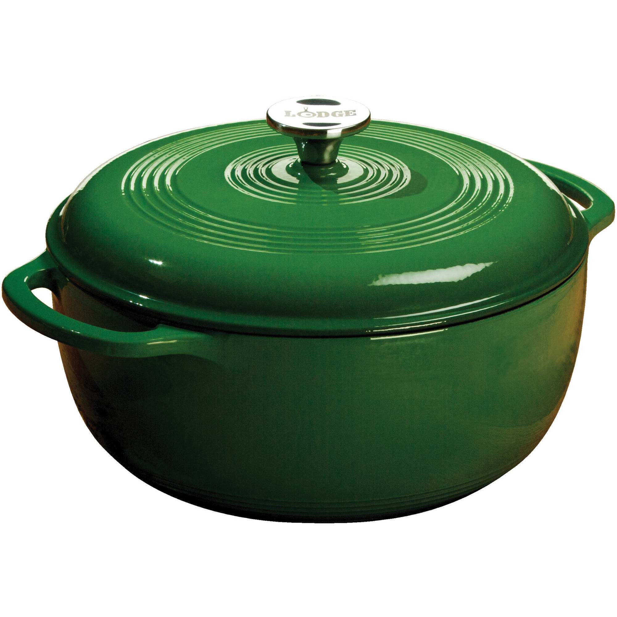 Lodge Enameled Cast Iron 6 Quart Dutch Oven, Green, EC6D53