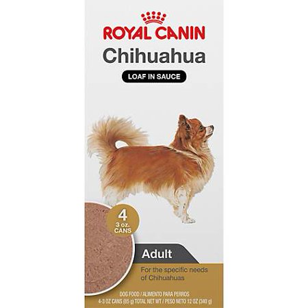 - Royal Canin Breed Health Nutrition Chihuahua Loaf In Sauce Dog Food Multipack, 3 oz, Case of 4 (pack of 1)