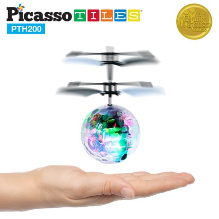 - PicassoTiles Flying Ball Electric Power Airlifted Helicopter Drone Toy PTH200