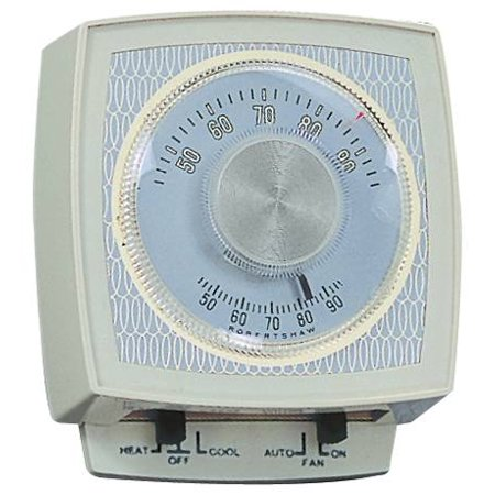 NON-PROGRAMMABLE MECHANICAL THERMOSTAT, 24 VOLTS, 1 HEAT/1 COOL, IVORY per 2