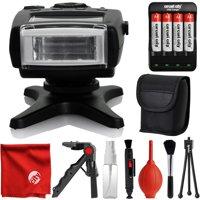 Opteka IF-500S TTL Dedicated Compact Flash w/ LCD Display + Case for Sony NEX 3, NEX 3N, NEX 5, NEX 5T, NEX 5R, NEX 6, NEX 7, A5000, A5100, A6000, A6100, A6300, A6500, A9 APS-C DSLR Cameras