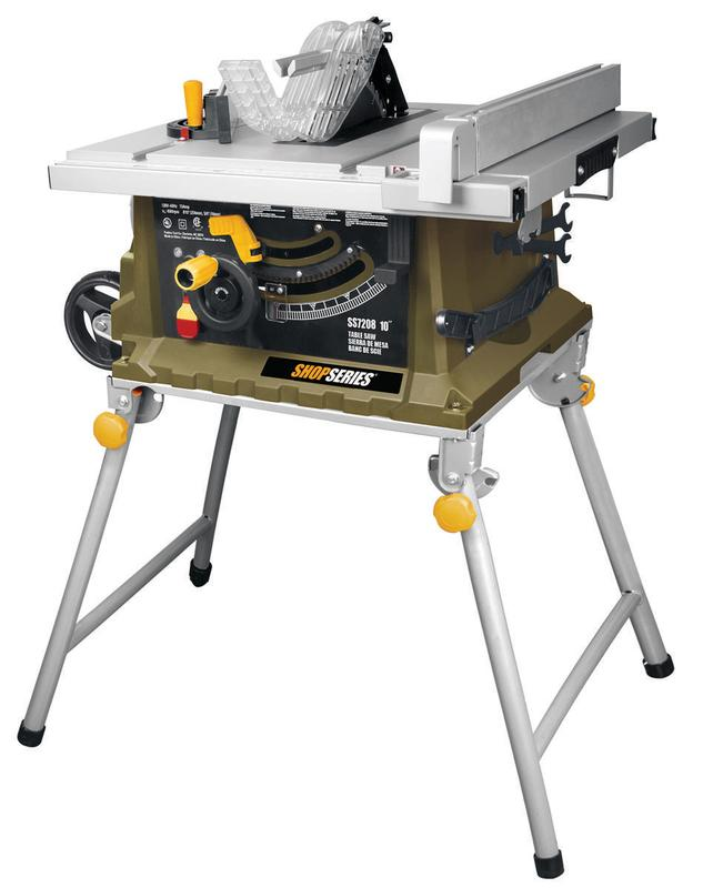 "ShopSeries 15 A 10"" Table Saw with Collapsible Leg Stand by Positec Technology"