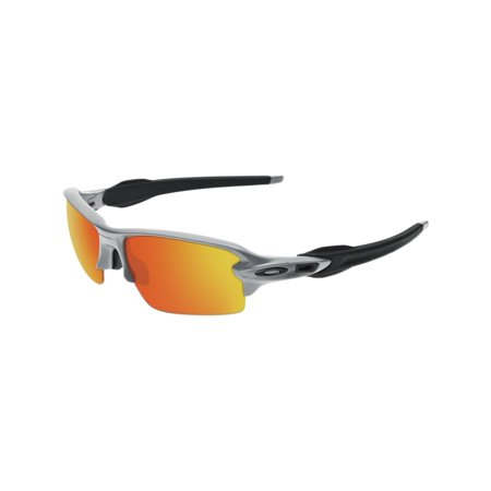 Oakley Flak 2.0 Sunglasses Silver/Fire Iridium One (Oakley Iridium Sunglasses)