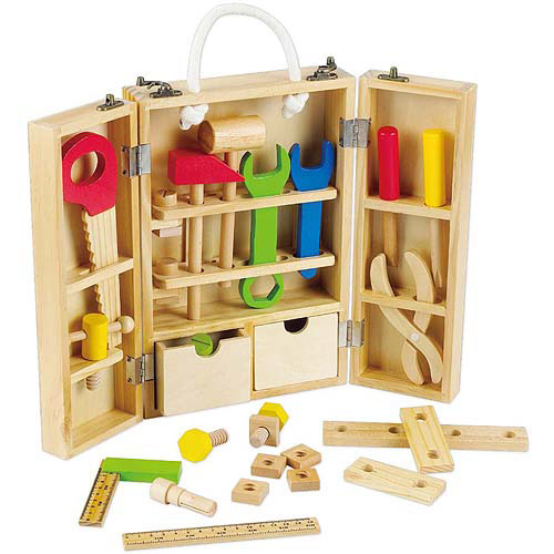 Classic Toy Wood Carpenter's Set