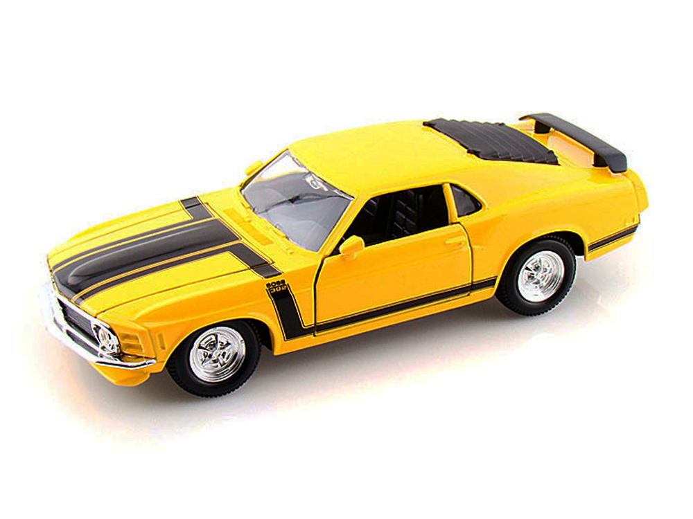 1970 Ford Mustang Boss 302, Yellow Maisto Special Edition 31943 1 24 Scale Diecast Model... by Maisto