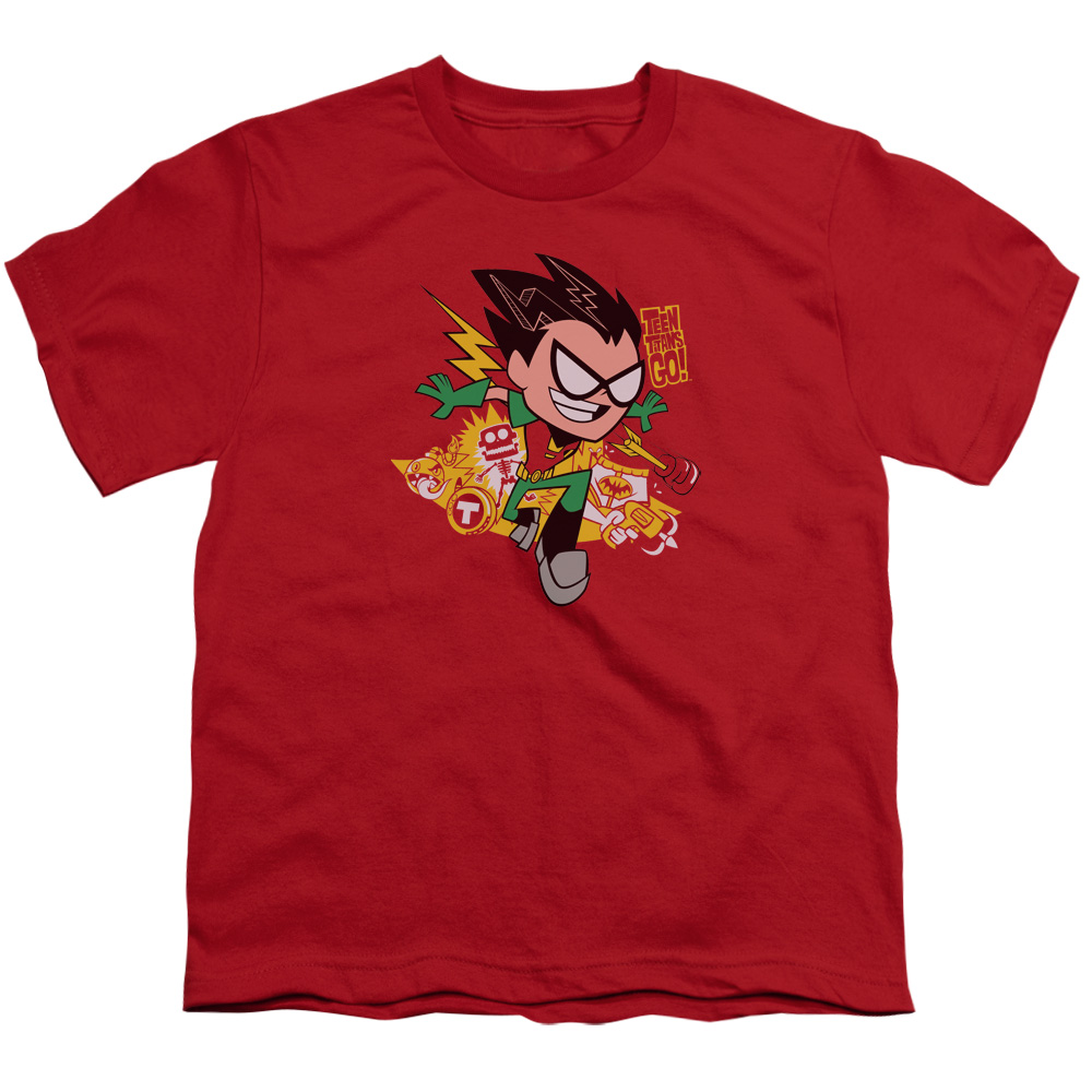 Teen Titans Go/Robin S/S Youth 18/1 Red   Ttg103