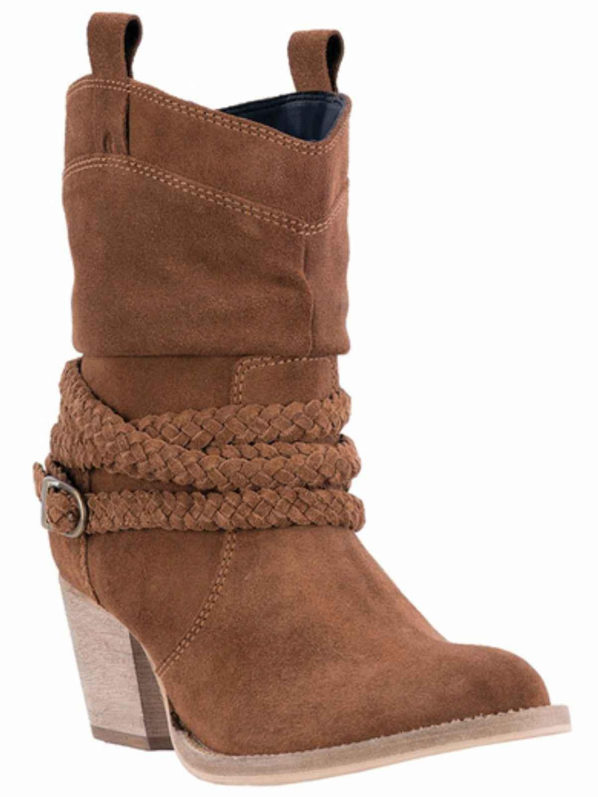 """Dingo Ladies 7"""" Rust Twisted Sister Leather Upper Pull-On Design, DI 677 by Dingo"""