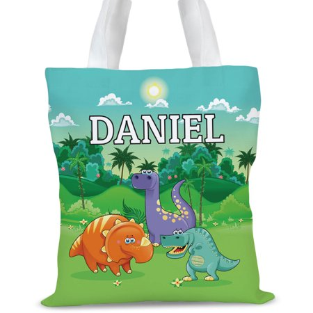 Dinosaur Personalized Kids Tote Bag, Sizes 11