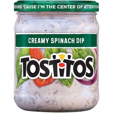 (2 Pack) Tostitos Creamy Spinach Dip, 15 (Seafood Dip)