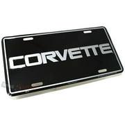 SmallAutoParts Aluminum License Plate - Corvette Letters