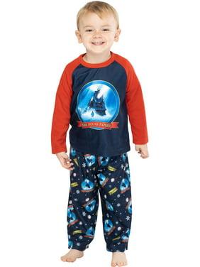 The Polar Express Train Toddler Kids Raglan Pajama Set