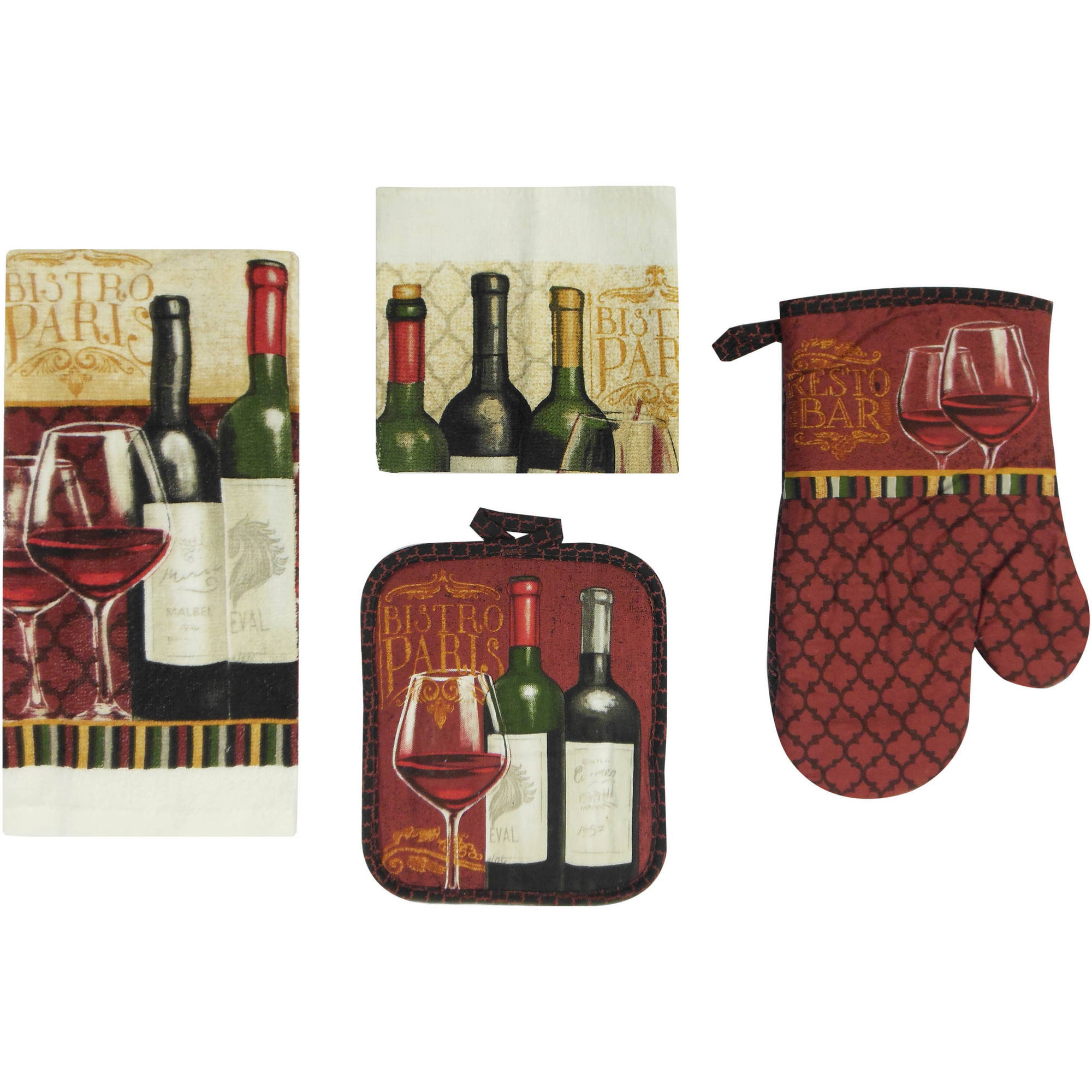 Mainstays Wine 7-Piece Kitchen Set