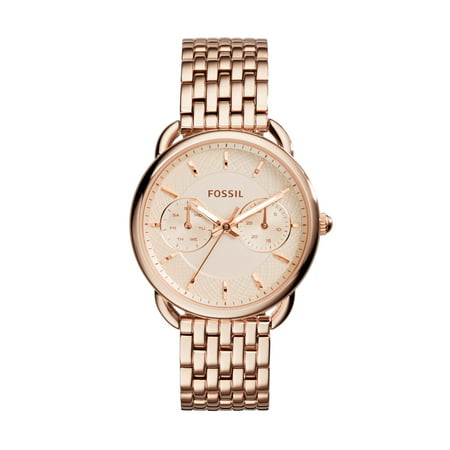 Fossil Silver Wrist Watch (Women's Tailor Rose-Gold Stainless-Steel Quartz Watch (Style: ES3713))