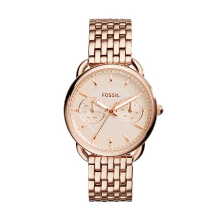 Fossil Women's Tailor Rose-Gold Stainless-Steel Quartz Watch (Style: ES3713) (Fossil Watch Women Heart)