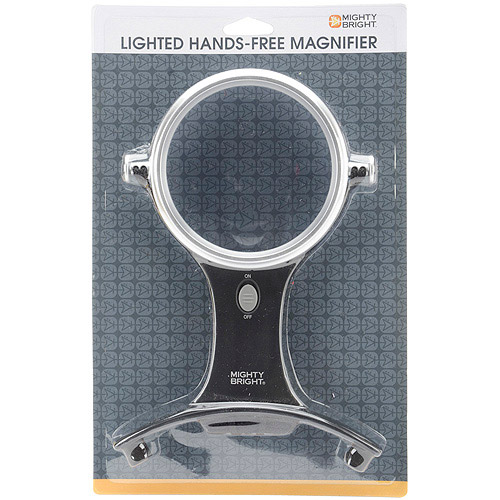 Mighty Bright 66510 LED 4 Handsfree Magnifier & Light, Silver Multi-Colored