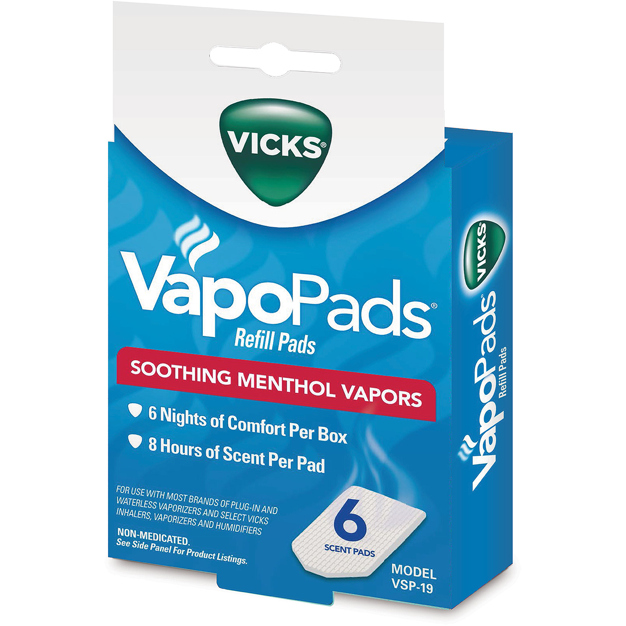 Vicks Soothing Menthol VapoPads, 12-Pack