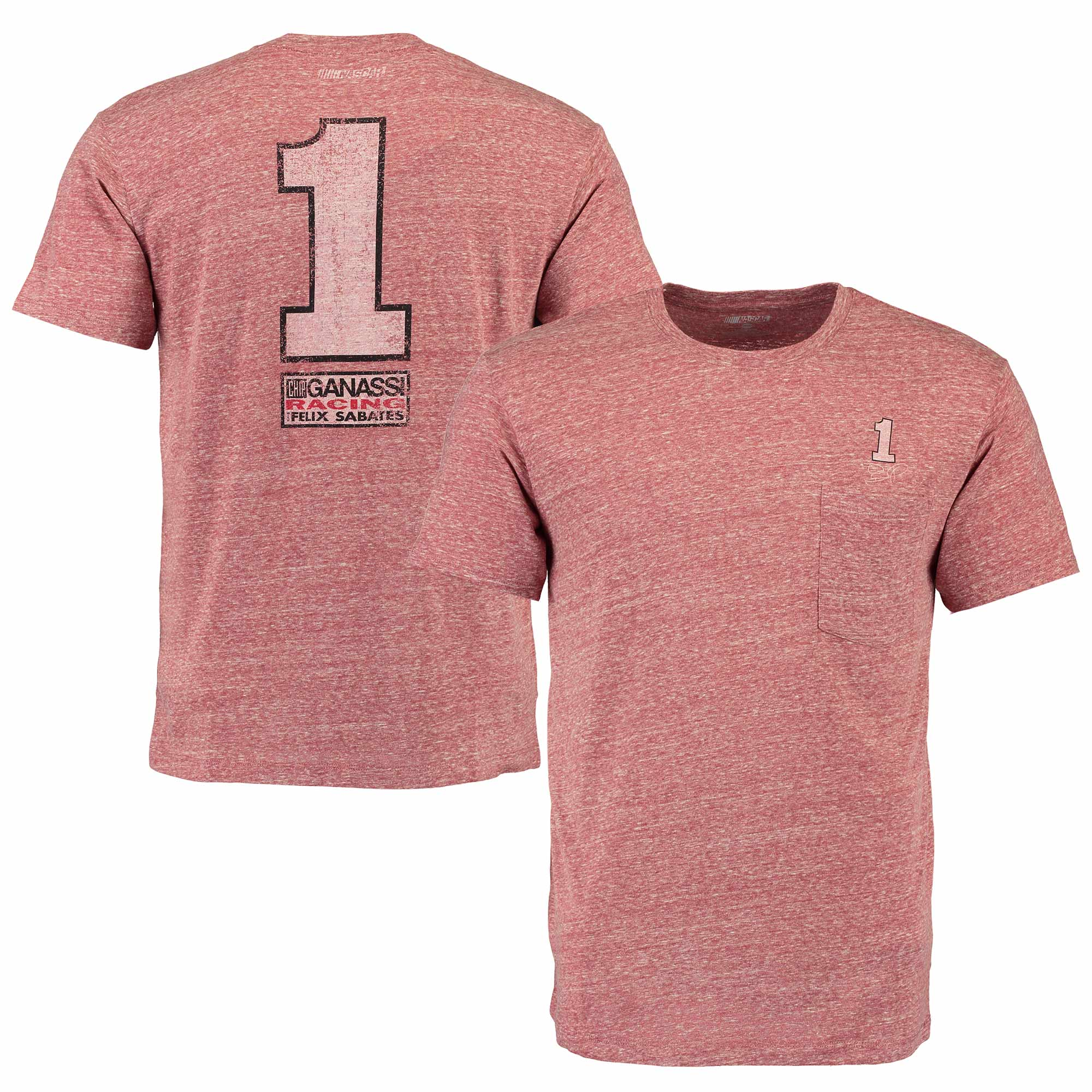 Jamie McMurray The Game Pocket Tri-Blend T-Shirt - Heathered Red