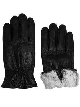 NICE CAPS Womens Ladies Adults 100% Genuine Leather Winter Driving Gloves With Plush Lining