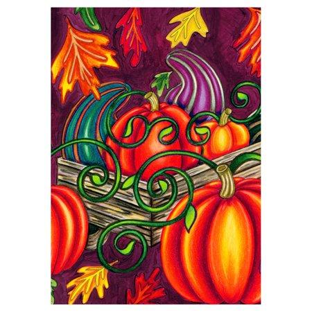 Large Fall Gourd (Toland Home Garden Fall Gourds Flag )