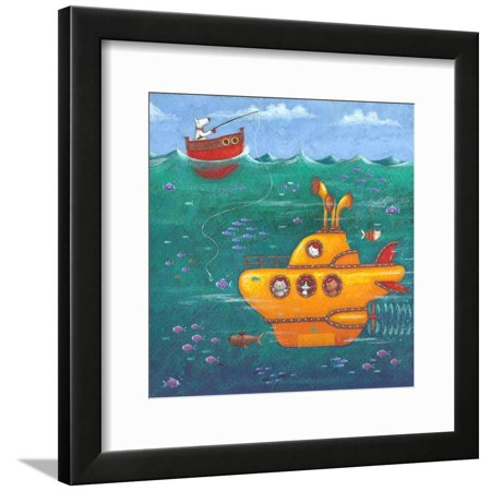 Yellow Submarine Framed Print Wall Art By Peter Adderley