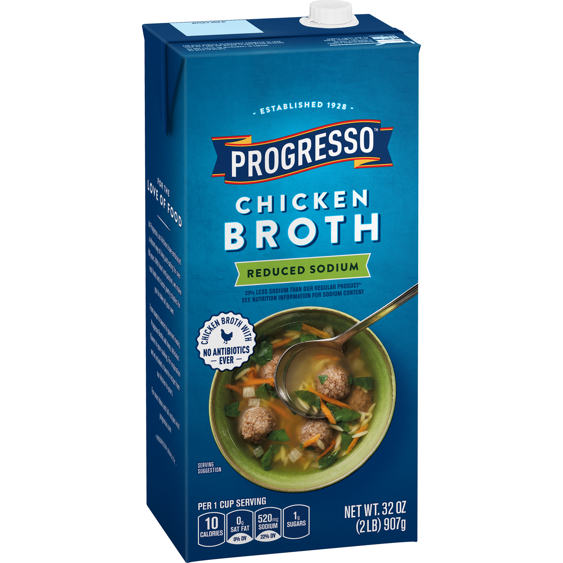 Progresso Reduced Sodium, Gluten Free Chicken Broth, 32 oz