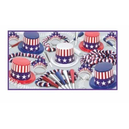 Spirit Of America Clear-View Asst for 10 Party Accessory (1 count) - Party Of America