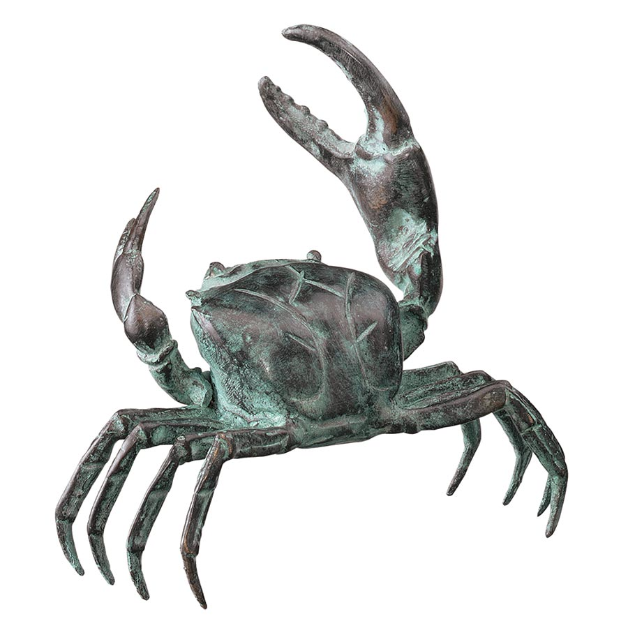 Design Toscano Small Ocean's Crab Cast Bronze Garden Statue