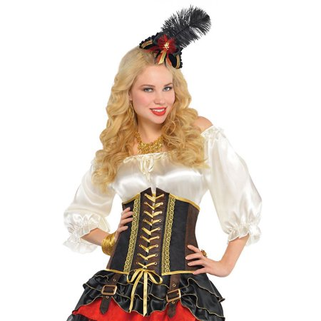 Pirate Corset Adult Costume - Small/Medium