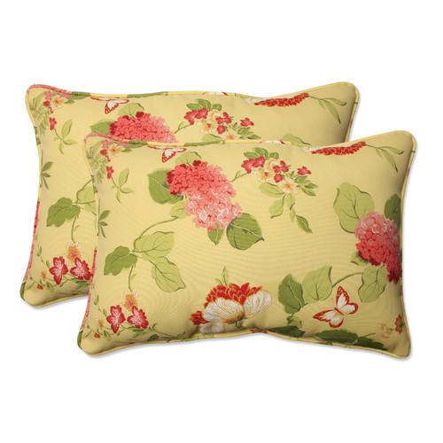 Pillow Perfect Outdoor/ Indoor Risa Lemonade Oversized Rectangle Throw Pillow (Set of 2)