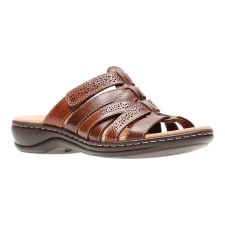 b3adbe5d3f4a Clarks - 26134086  Women s Brown Multi Leather Leisa Field Platform -  Walmart.com
