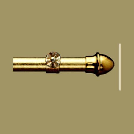 "Kirsch 66"" - 120"" Brass 13/16"" Diameter Curtain Rod"